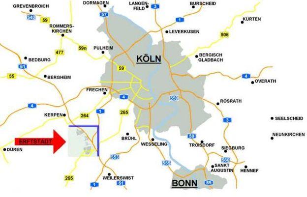 Übersicht Köln Bonn Erftstadt